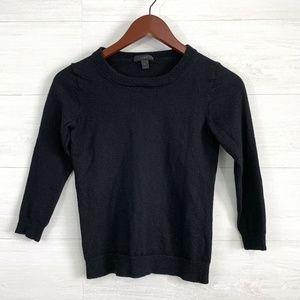 J Crew Black Wool VERY SHRUNKEN Sweater